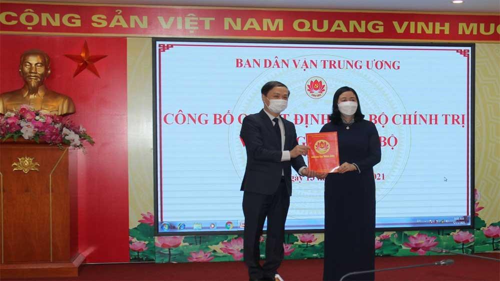 Đồng chí Phạm Tất Thắng giữ chức Phó trưởng Ban Dân vận Trung ương