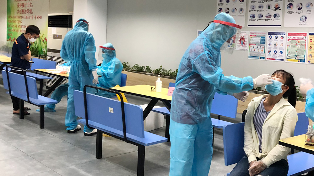Bac Giang province, 60,000 workers, high risk of infection, Covid-19 pandemic, positive for SARS-CoV-2,  Shin Young Vietnam Company Limited, industrial park