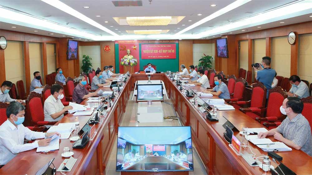 Kỳ họp thứ 3, Ủy ban Kiểm tra Trung ương, Cảnh cáo Bí thư Đảng ủy, Chủ tịch Hội đồng quản trị, Tổng Công ty Lương thực Miền Nam, Võ Thanh Hà