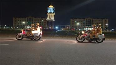 Cảnh sát giao thông Bắc Giang tuần tra vũ trang ban đêm phòng, chống dịch Covid-19