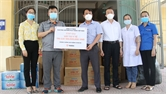 Việt Yên: Tiếp nhận vật tư y tế ủng hộ phòng, chống dịch Covid-19