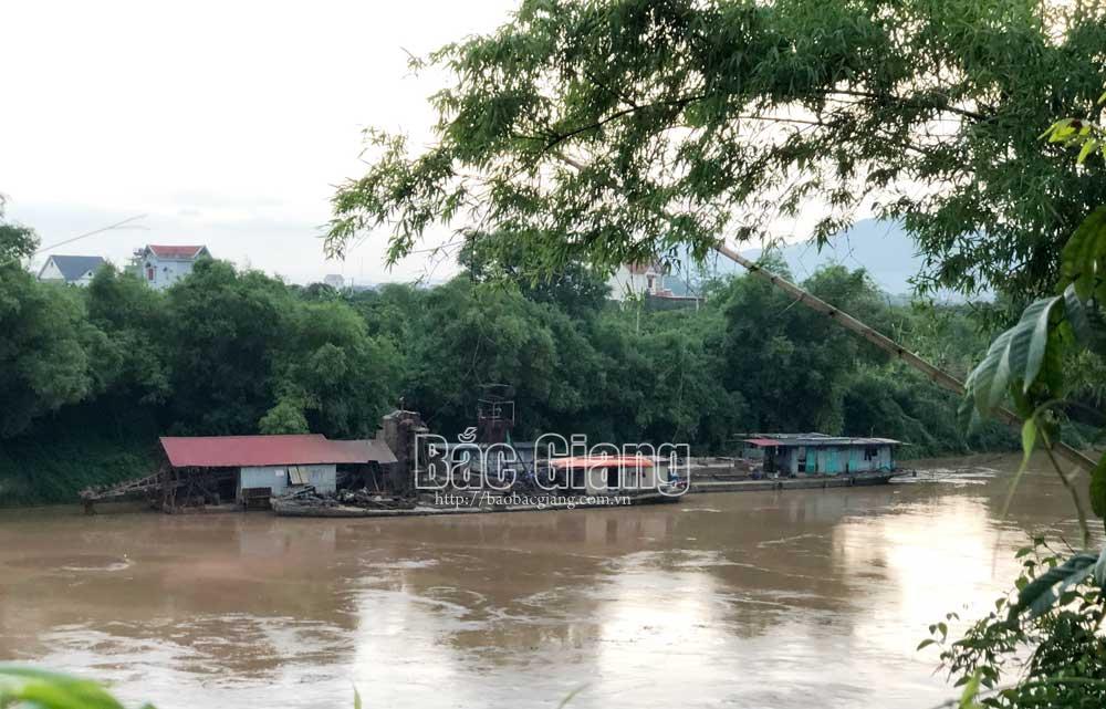 Bắc Giang, Lục Ngạn, hút cát, khoáng sản, Mỹ An, Phượng Sơn