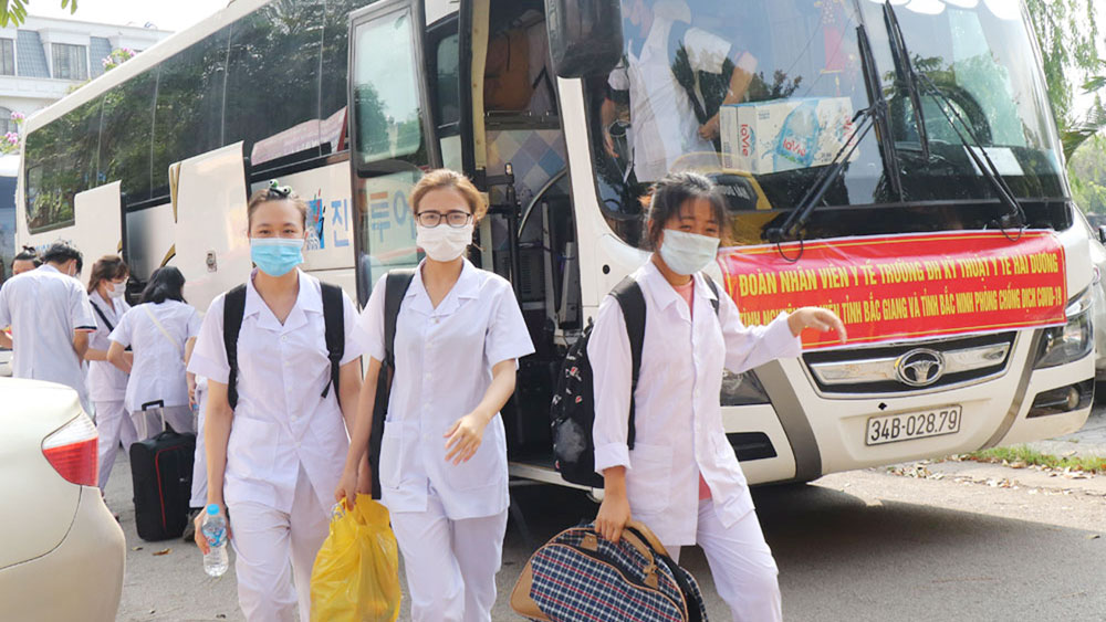 Covid-19 testing, Race against time, Bac Giang province, Covid-19 pandemic, SARS-CoV-2, infection cases, mutual support, recent outbreak