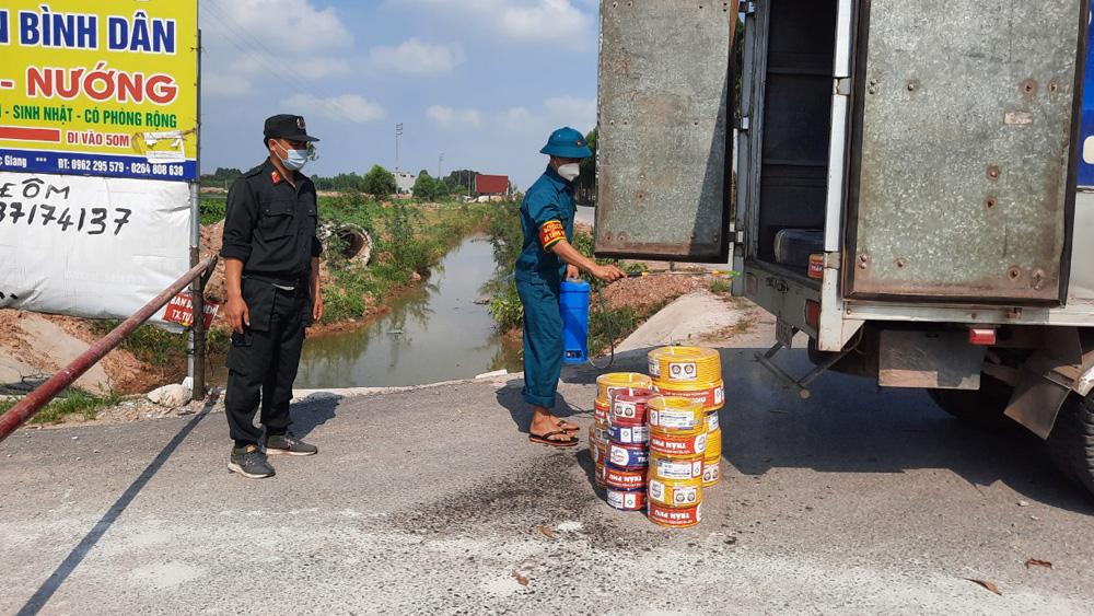 Bắc Giang, Việt Yên, phòng dịch, Covid-19, công nhân, vùng cách ly