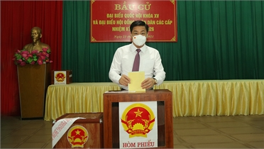 Bắc Giang: Các đồng chí Thường trực Tỉnh ủy dự Lễ khai mạc và bỏ phiếu bầu cử