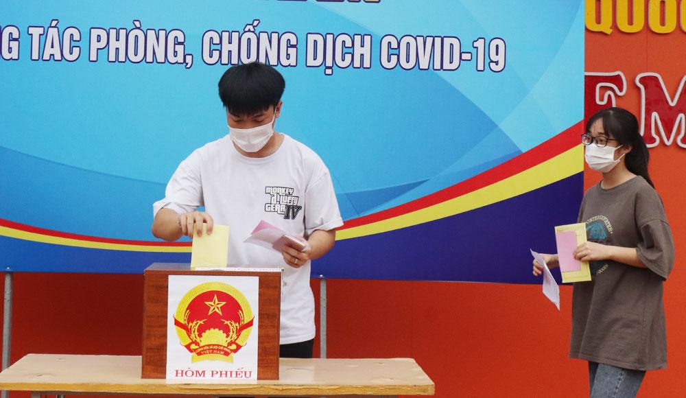 Covid-19, TP Bắc Giang, Bắc Giang, bầu cử, cử tri, tình nguyện viên