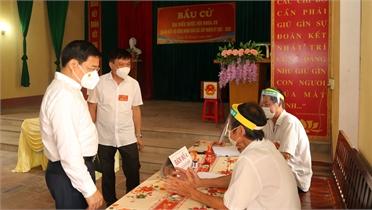 Bí thư Tỉnh ủy Dương Văn Thái: Kịp thời nắm bắt, giải quyết những vướng mắc phát sinh trong ngày bầu cử