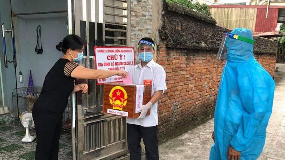 Bắc Giang, bầu cử, hoàn thành bầu cử, bỏ phiếu, mở hòm phiếu