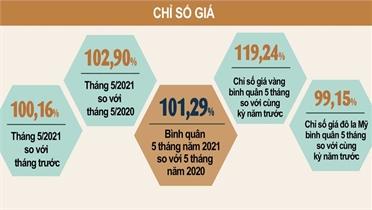 CPI tháng 5 tăng 0,16%