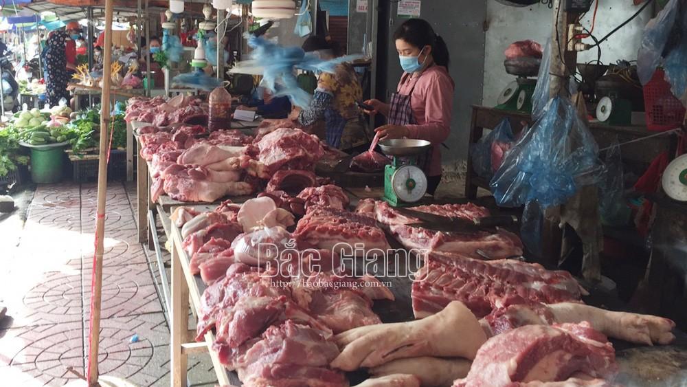 TP Bắc Giang: Giá thịt lợn tại các chợ tăng cao