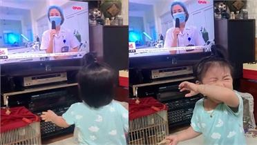 Con gái nữ điều dưỡng đến Bắc Giang khóc lớn khi thấy mẹ trên tivi