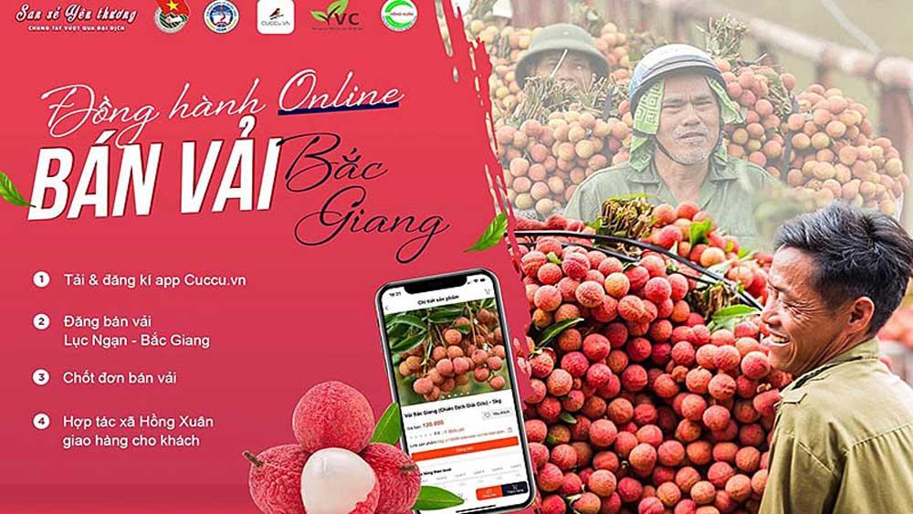 Phát động, Chiến dịch, Đồng hành online – Bán vải Bắc Giang