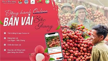 """Phát động Chiến dịch """"Đồng hành online – Bán vải Bắc Giang"""""""