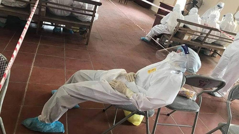 Nhiều nhân viên, lấy mẫu xét nghiệm, Bắc Giang, ngất do nắng nóng