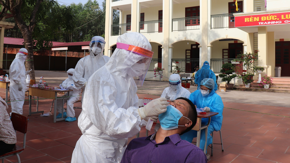 Bac Giang province, nearly 1 million samples, Covid-19 vaccine doses, Covid-19 epicenter, SARS-CoV-2, industrial park