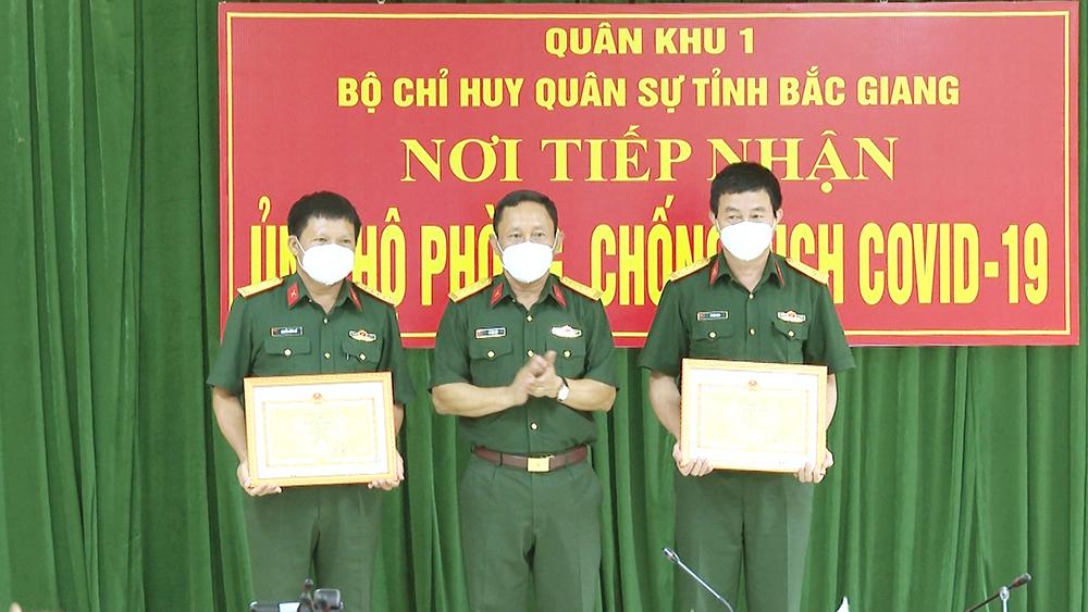 Bắc Giang, Bộ CHQS tỉnh, Bộ Tư lệnh Quân khu 1 tặng Bằng khen trong phòng, chống dịch Covid-19