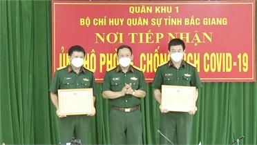 Bắc Giang: 3 tập thể, 4 cá nhân được Bộ Tư lệnh Quân khu 1 tặng Bằng khen trong phòng, chống dịch