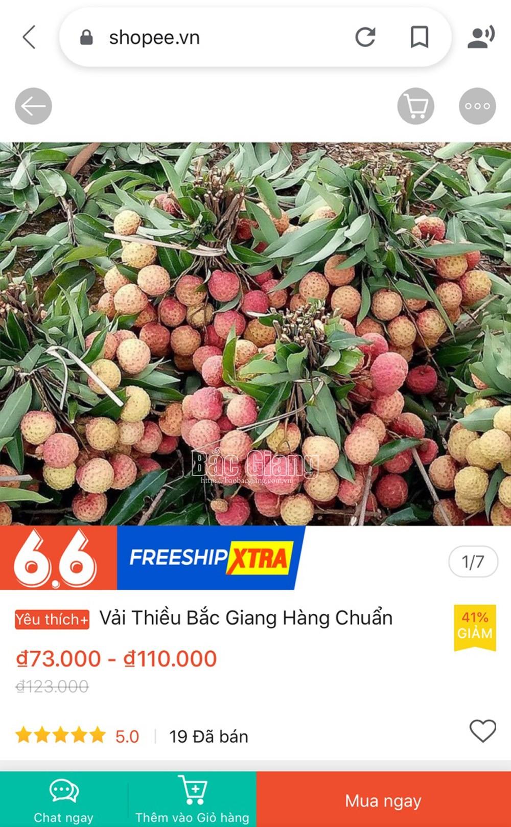 Bac Giang lychee, e-commerce platforms, Digital Economy, special fruits, 4.0 technology era, e-commerce transaction