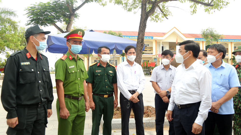Bắc Giang, Bí thư Tỉnh ủy Dương Văn Thái, kiểm tra Lục Nam, phòng chống dịch Covid-19