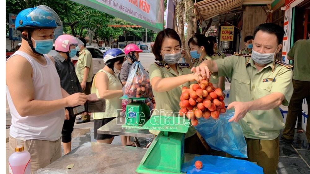 Bắc Giang, Lực lượng quản lý thị trường, QLTT Bắc Giang, hỗ trợ, tiêu thụ, nông sản, 300 tấn vải thiều, vải Bắc Giang