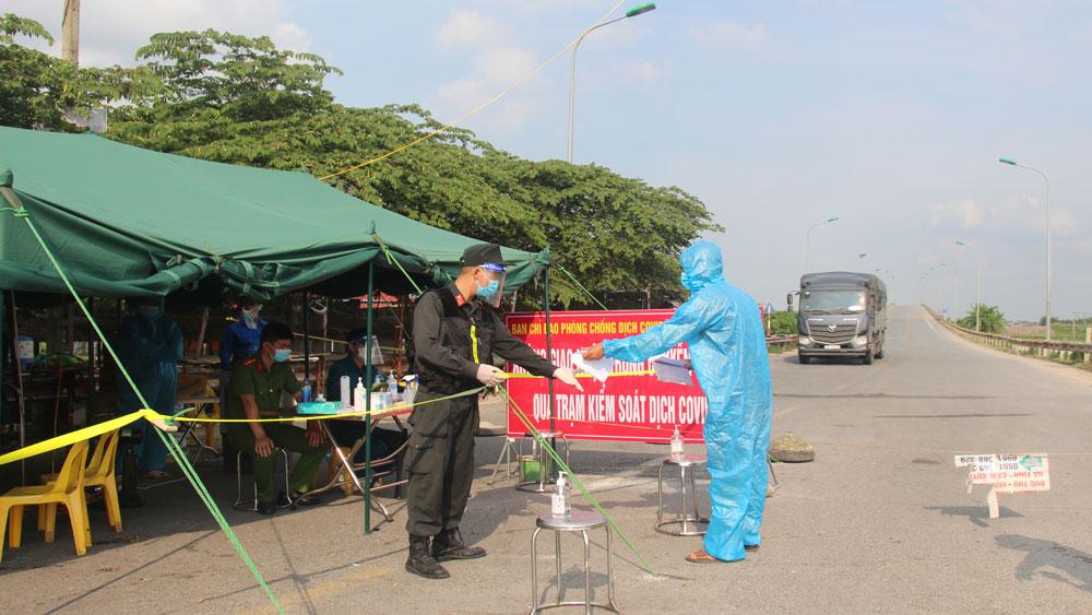 Hiệp Hòa, ngăn sông, cấm chợ, dịch Covid-19, Bắc Giang