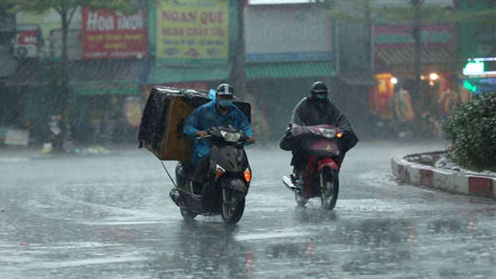 Nhiều nơi trên cả nước có mưa lớn vào chiều tối và đêm