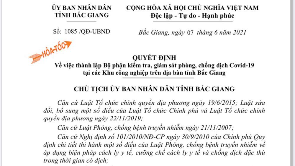 Covid-19, khu công nghiệp, phòng, chống dịch, Bắc Giang.
