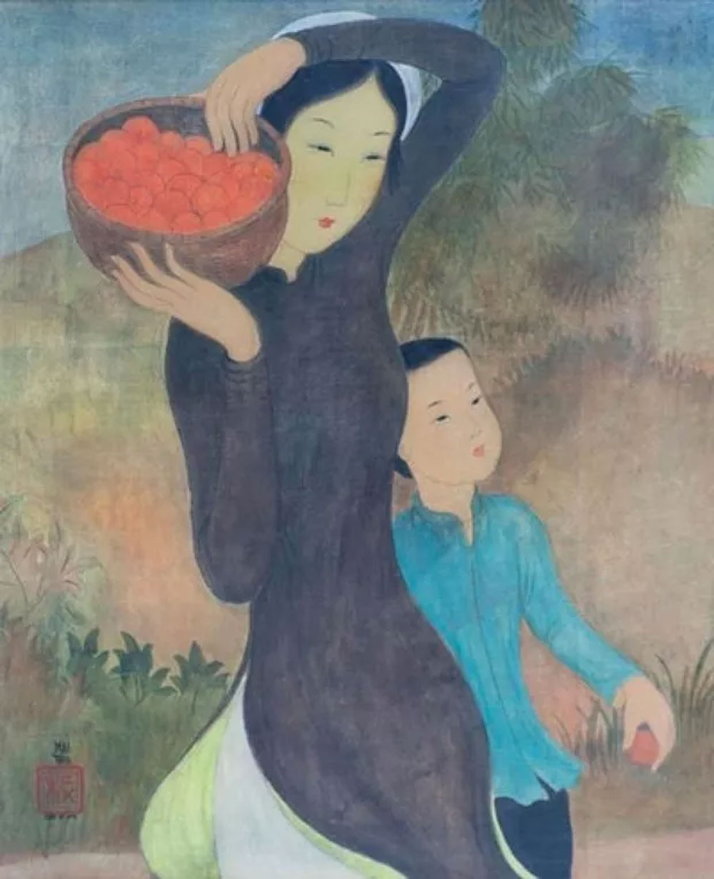 French exhibition, display artworks, painter Mai Trung Thu, 140 paintings, Ursulines Museum, Vietnamese contemporary art