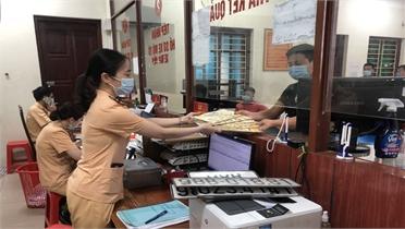 Từ 12/6, CSGT Bắc Giang cấp biển số cho xe kinh doanh vận tải cả ngày nghỉ