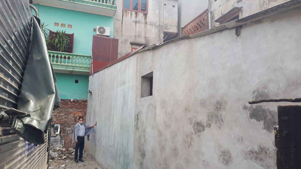 Thành phố Bắc Giang: Thửa đất bị tách làm đôi, chủ sử dụng gặp khó