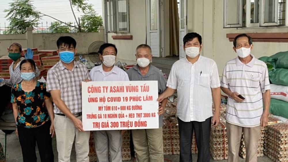 Công ty ASAHI - Vũng Tầu ủng hộ dịch Covid-19, vùng tâm dịch Bắc Giang