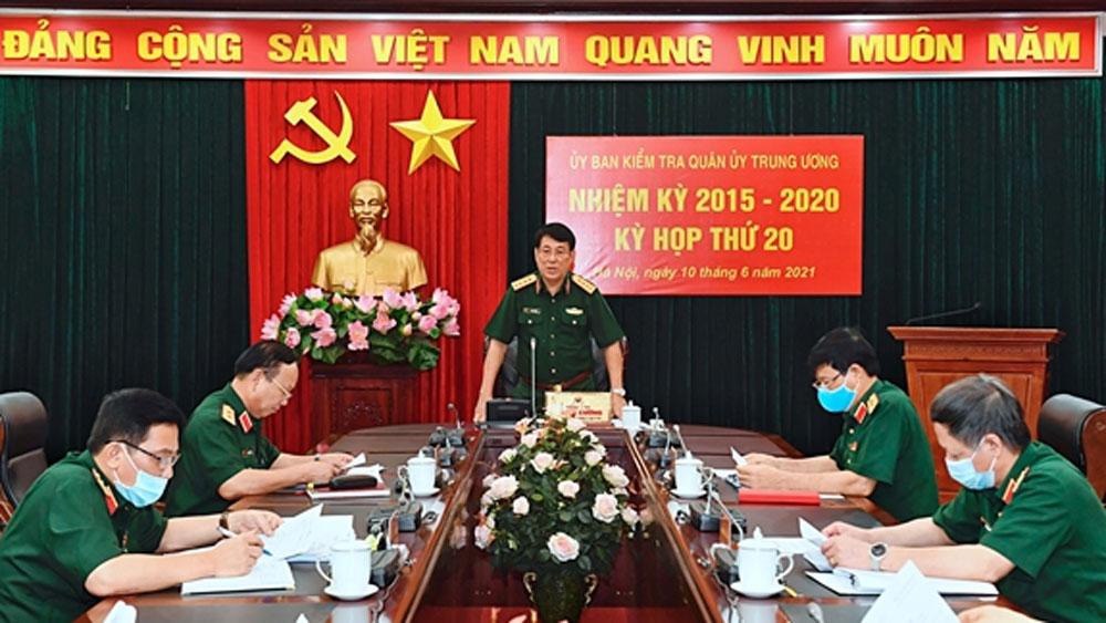 Kỳ họp thứ 20, Ủy ban Kiểm tra Quân ủy Trung ương
