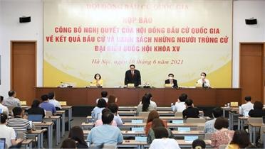 Công bố danh sách chính thức những người trúng cử đại biểu Quốc hội khóa XV