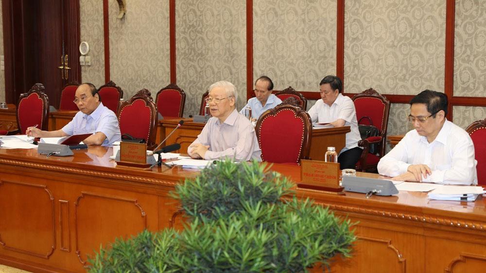 Bộ Chính trị yêu cầu 6 nhiệm vụ trọng; phòng, chống Covid-19