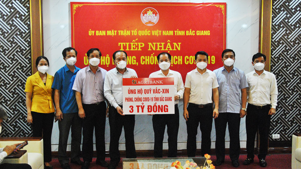 3 billion VND, Covid-19 vaccine fund, Bac Giang province, Covid-19 pandemic, Fatherland Front Committee, joint effort