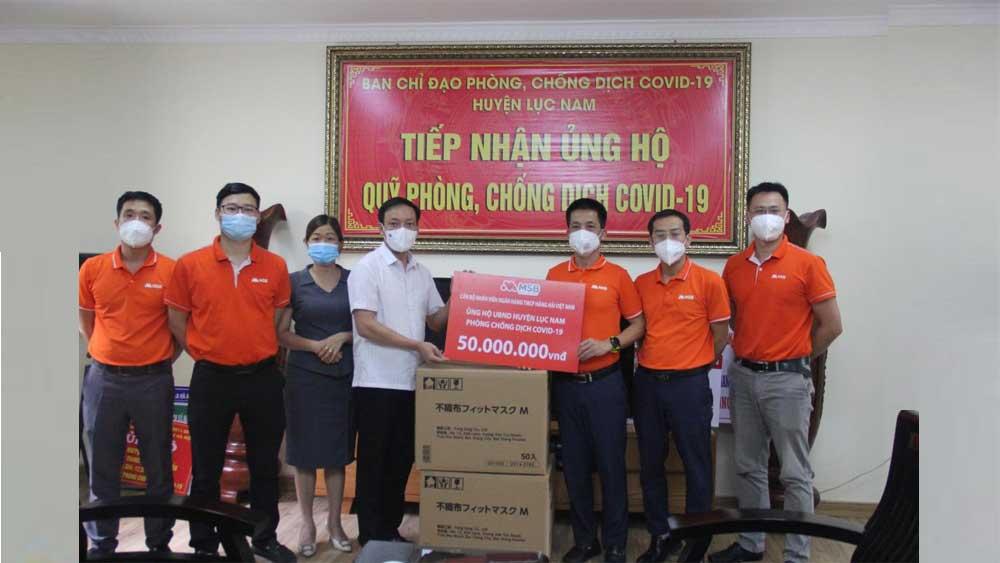Ngân hàng MSB Bắc Giang trao quà hỗ trợ phòng, chống dịch Covid-19