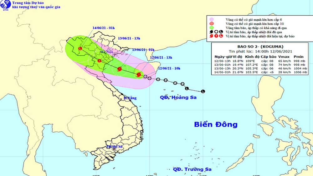 Tin bão khẩn cấp: Bão số 2 giật cấp 10, cách Hải Phòng đến Nghệ An khoảng 260 km