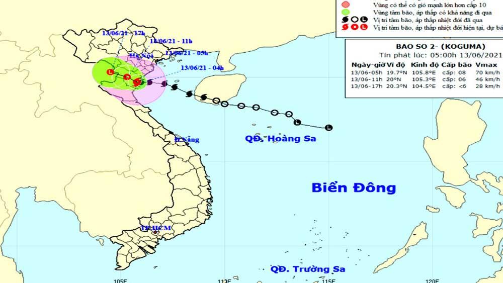 Bão số 2 suy yếu thành áp thấp nhiệt đới trong 3 giờ tới