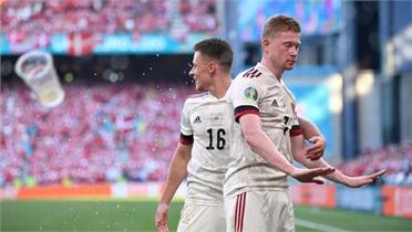 Euro 2020: De Bruyne giúp Bỉ thắng ngược chủ nhà Đan Mạch