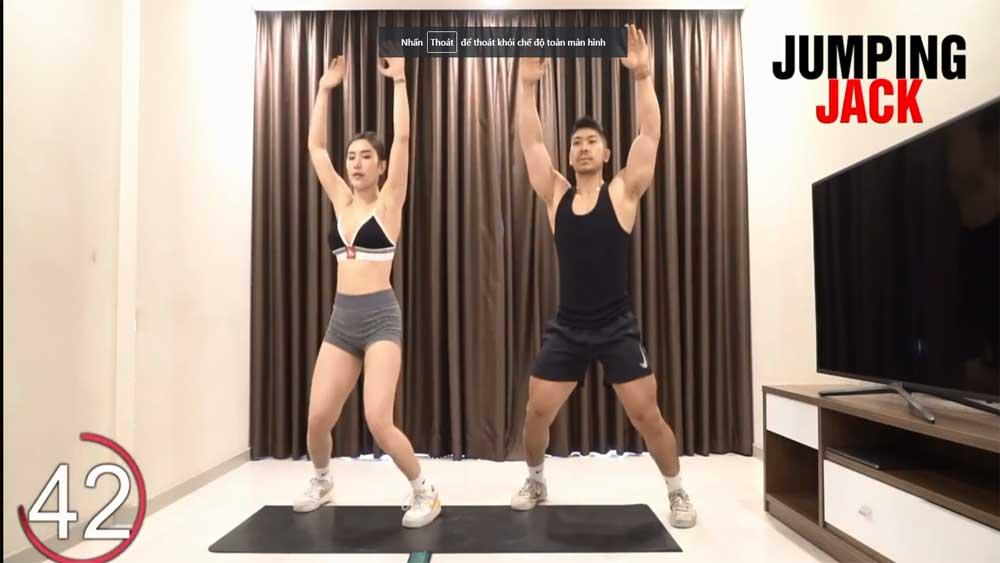 Bài cardio tiêu mỡ, tăng cơ bụng nam lẫn nữ