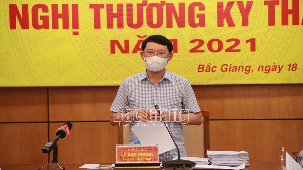 Chủ tịch UBND tỉnh Lê Ánh Dương: Nhanh chóng ổn định tình hình, khôi phục sản xuất