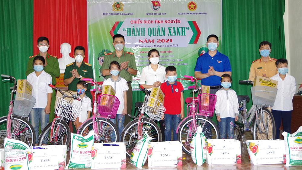 Bắc Giang, Bộ CHQS tỉnh, hành quân xanh giúp đỡ các gia đình hoàn cảnh khó khăn