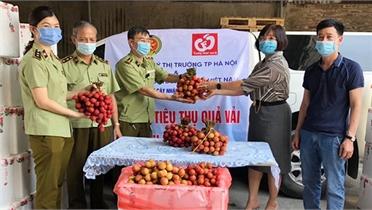 Cục Quản lý thị trường Hà Nội: Hỗ trợ Bắc Giang tiêu thụ vải thiều