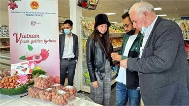 Vải thiều tươi Việt Nam lần đầu ra mắt tại Hà Lan