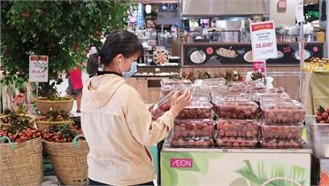 Tiêu thụ 30 tấn vải thiều Lục Ngạn tại hệ thống siêu thị AEON khu vực phía Nam