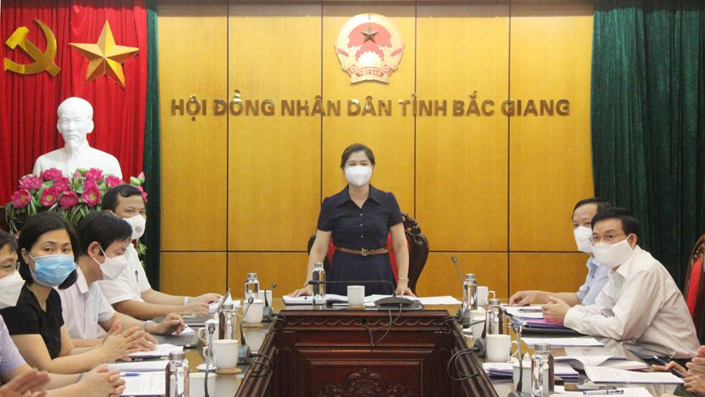 HĐND, thẩm tra, dự thảo, báo cáo, Bắc Giang.