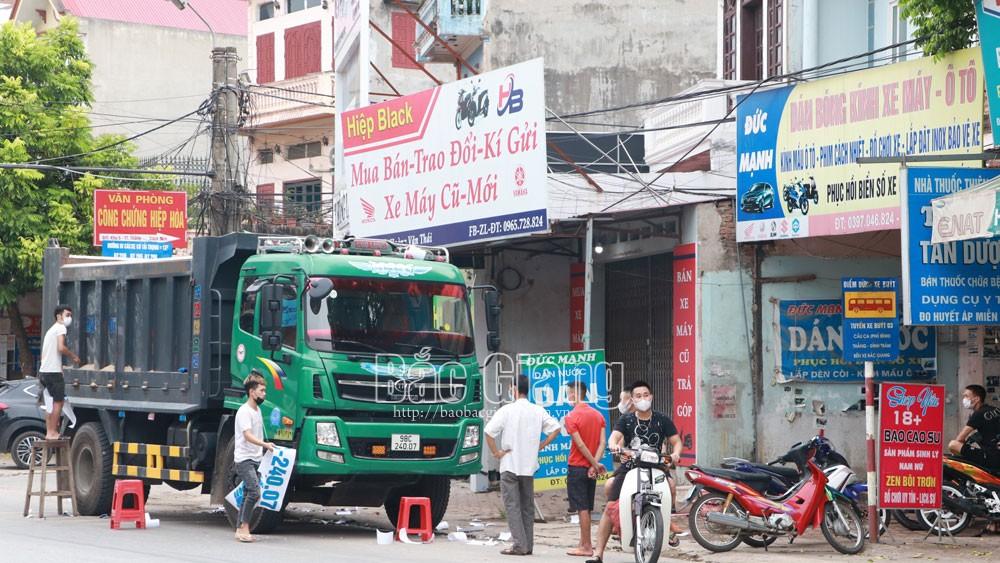 Bắc Giang, giãn cách xã hội, Hiệp Hòa, Yên Dũng, vi phạm