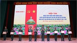 Quân đoàn 2 tổ chức hội thi báo cáo viên tuyên truyền nghị quyết đại hội đảng các cấp