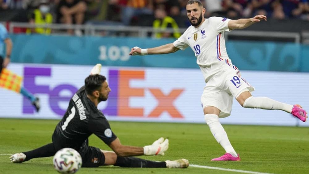 Pháp hòa Bồ Đào Nha 2-2; bảng F; EURO 2020;