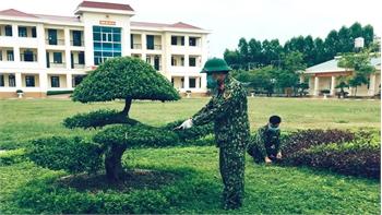 Ban CHQS huyện Yên Dũng thi đua xây dựng doanh trại chính quy